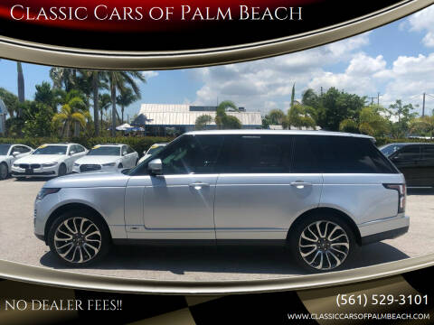 2019 Land Rover Range Rover for sale at Classic Cars of Palm Beach in Jupiter FL