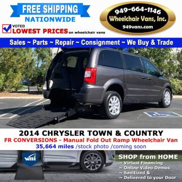 2014 Chrysler Town and Country for sale at Wheelchair Vans Inc - New and Used in Laguna Hills CA