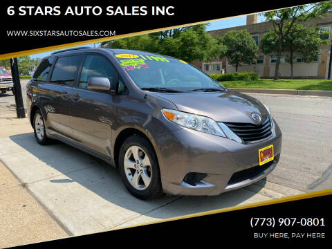 2011 Toyota Sienna for sale at 6 STARS AUTO SALES INC in Chicago IL