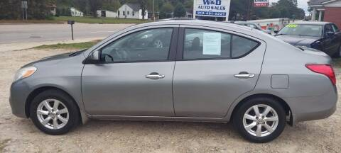 2012 Nissan Versa for sale at W & D Auto Sales in Fayetteville NC