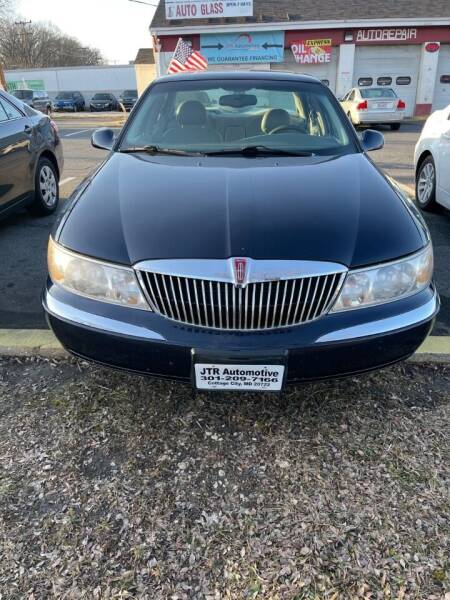2001 Lincoln Continental for sale at JTR Automotive Group in Cottage City MD