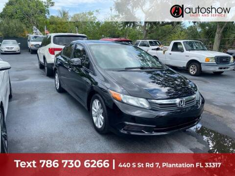 2012 Honda Civic for sale at AUTOSHOW SALES & SERVICE in Plantation FL