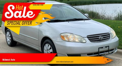 2003 Toyota Corolla for sale at Midwest Auto in Naperville IL