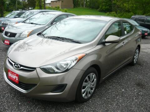 2012 Hyundai Elantra for sale at Shaw's Sales & Service in Wallingford VT