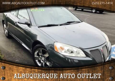 2009 Pontiac G6 for sale at ALBUQUERQUE AUTO OUTLET in Albuquerque NM