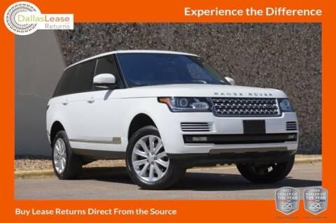2016 Land Rover Range Rover for sale at Dallas Auto Finance in Dallas TX