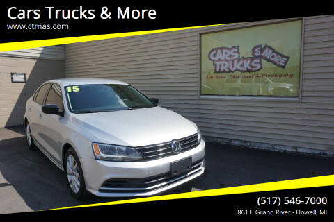 2015 Volkswagen Jetta for sale at Cars Trucks & More in Howell MI