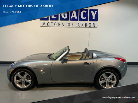 2007 Pontiac Solstice for sale at LEGACY MOTORS OF AKRON in Akron OH