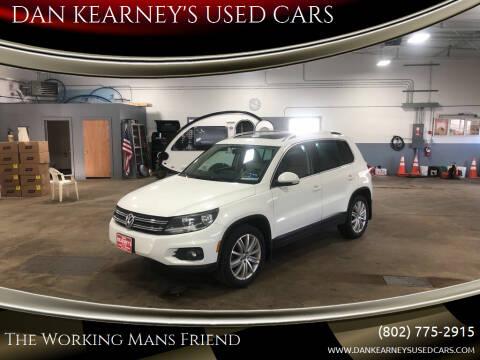 2015 Volkswagen Tiguan for sale at DAN KEARNEY'S USED CARS in Center Rutland VT