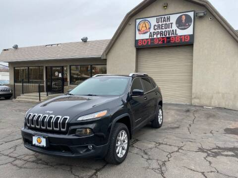 2015 Jeep Cherokee for sale at Utah Credit Approval Auto Sales in Murray UT