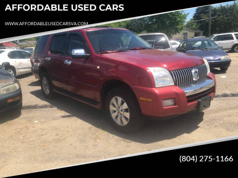 2006 Mercury Mountaineer for sale at AFFORDABLE USED CARS in Richmond VA