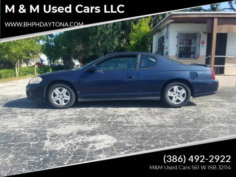 2007 Chevrolet Monte Carlo for sale at M & M Used Cars LLC in Daytona Beach FL