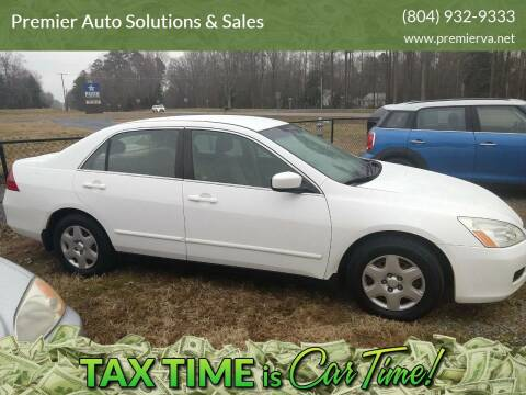 2007 Honda Accord for sale at Premier Auto Solutions & Sales in Quinton VA
