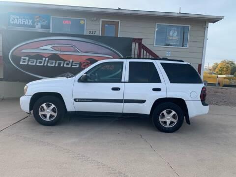 2004 Chevrolet TrailBlazer for sale at Badlands Brokers in Rapid City SD