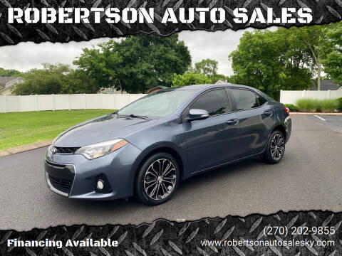 2014 Toyota Corolla for sale at ROBERTSON AUTO SALES in Bowling Green KY