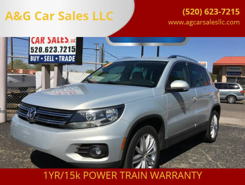 2013 Volkswagen Tiguan for sale at A&G Car Sales  LLC in Tucson AZ