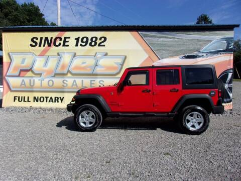 2016 Jeep Wrangler Unlimited for sale at Pyles Auto Sales in Kittanning PA