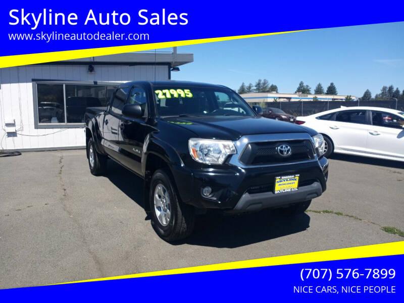 2013 Toyota Tacoma for sale at Skyline Auto Sales in Santa Rosa CA