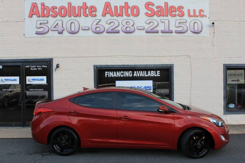 2013 Hyundai Elantra for sale at Absolute Auto Sales in Fredericksburg VA