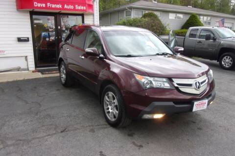 2008 Acura MDX for sale at Dave Franek Automotive in Wantage NJ