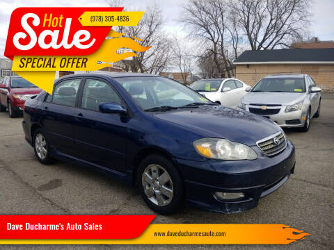 2007 Toyota Corolla for sale at Dave Ducharme's Auto Sales in Lowell MA