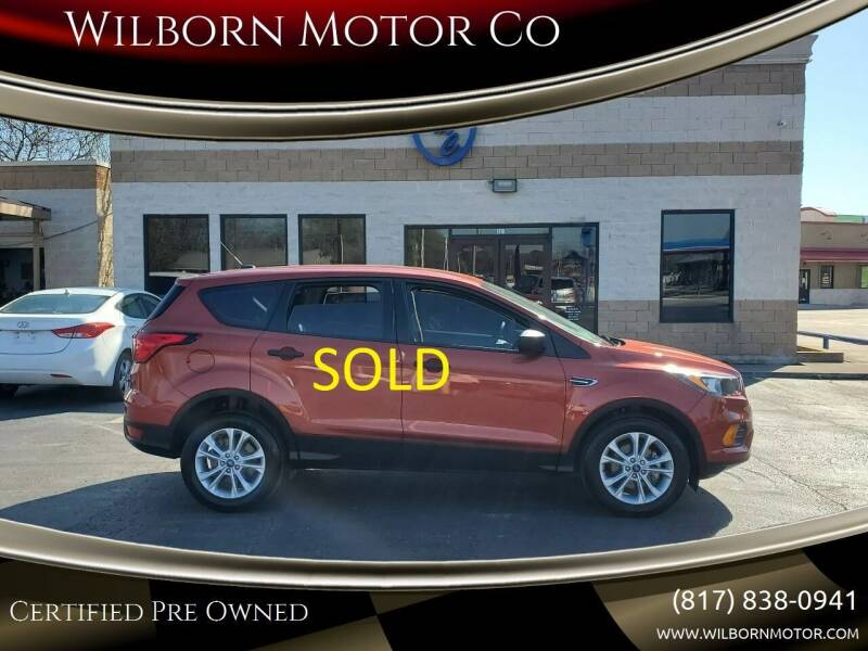 2019 Ford Escape for sale at Wilborn Motor Co in Fort Worth TX