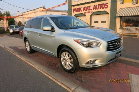 2013 Infiniti JX35 for sale at PARK AVENUE AUTOS in Collingswood NJ