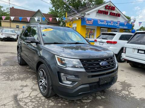 2016 Ford Explorer for sale at C & M Auto Sales in Detroit MI