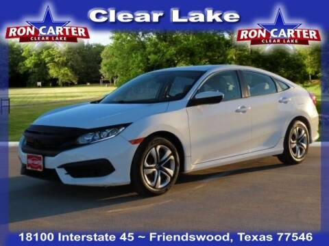 2016 Honda Civic for sale at Ron Carter  Clear Lake Used Cars in Houston TX