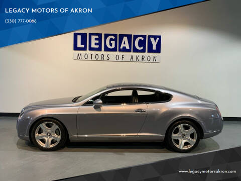 2007 Bentley Continental for sale at LEGACY MOTORS OF AKRON in Akron OH