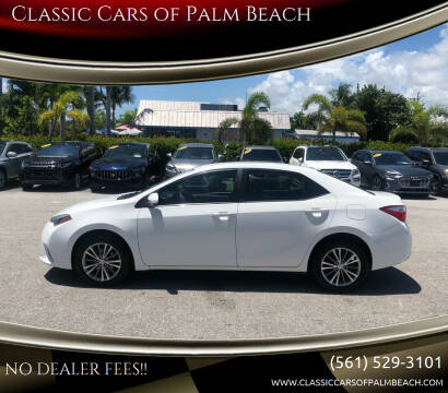 2015 Toyota Corolla for sale at Classic Cars of Palm Beach in Jupiter FL