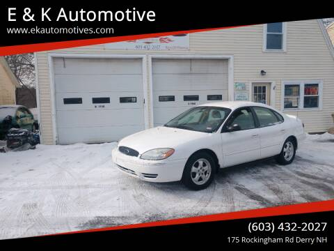 2006 Ford Taurus for sale at E & K Automotive in Derry NH