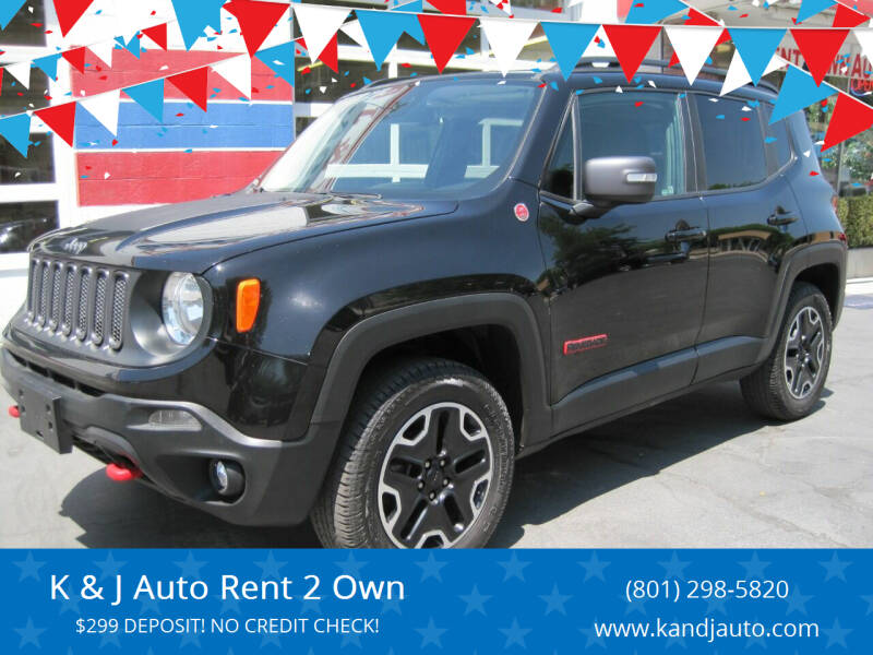 2017 Jeep Renegade for sale at K & J Auto Rent 2 Own in Bountiful UT