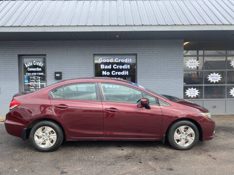 2014 Honda Civic for sale at Auto Credit Connection LLC in Uniontown PA