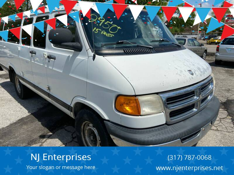 1998 Dodge Ram Wagon for sale at NJ Enterprises in Indianapolis IN