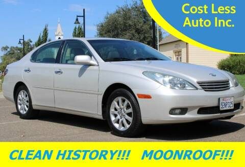 2004 Lexus ES 330 for sale at Cost Less Auto Inc. in Rocklin CA