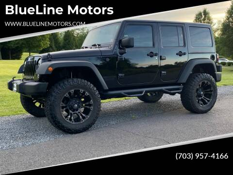 2016 Jeep Wrangler Unlimited for sale at Blue Line Motors in Winchester VA