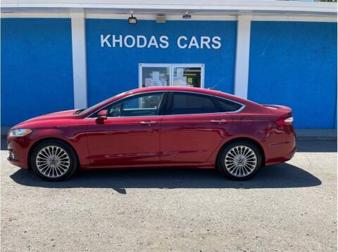 2015 Ford Fusion for sale at Khodas Cars in Gilroy CA