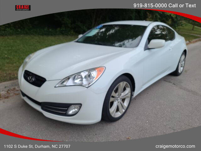 2010 Hyundai Genesis Coupe for sale at CRAIGE MOTOR CO in Durham NC