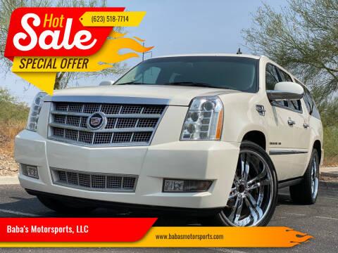 2012 Cadillac Escalade ESV for sale at Baba's Motorsports, LLC in Phoenix AZ