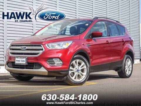 2018 Ford Escape for sale at Hawk Ford of St. Charles in Saint Charles IL