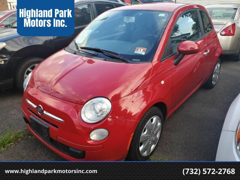 2013 FIAT 500 for sale at Highland Park Motors Inc. in Highland Park NJ