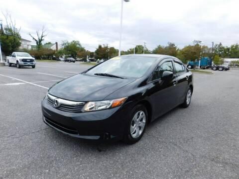 2012 Honda Civic for sale at AMERICAR INC in Laurel MD