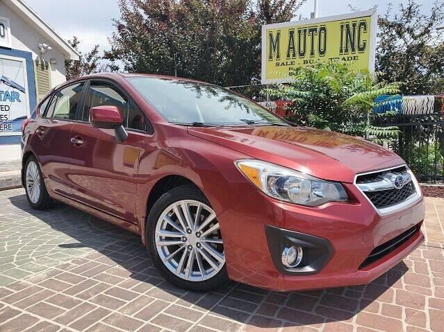 2012 Subaru Impreza for sale at M AUTO, INC in Millcreek UT