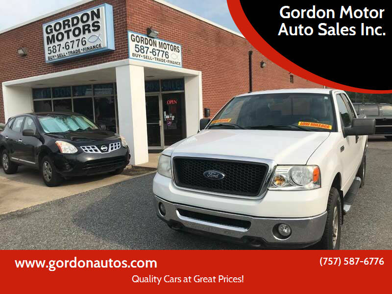 2007 Ford F-150 for sale at Gordon Motor Auto Sales Inc. in Norfolk VA