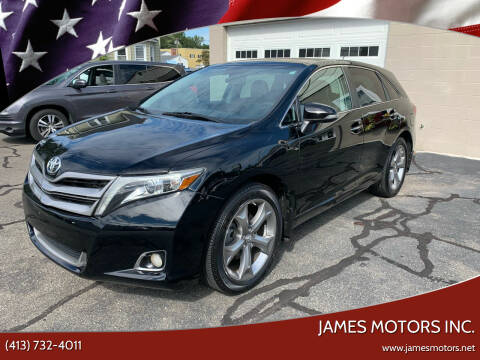 2013 Toyota Venza for sale at James Motors Inc. in East Longmeadow MA