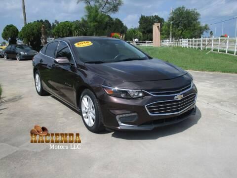 2016 Chevrolet Malibu for sale at HACIENDA MOTORS, LLC in Brownsville TX