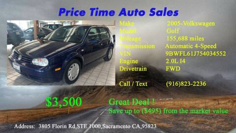 2005 Volkswagen Golf for sale at PRICE TIME AUTO SALES in Sacramento CA