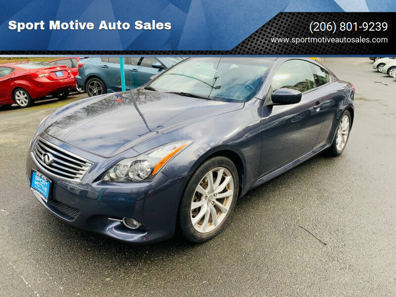 2013 Infiniti G37 Coupe for sale at Sport Motive Auto Sales in Seattle WA