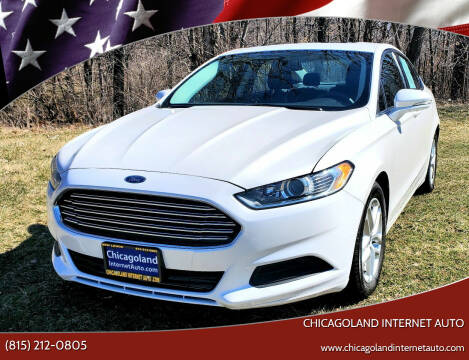 2016 Ford Fusion for sale at Chicagoland Internet Auto - 410 N Vine St New Lenox IL, 60451 in New Lenox IL